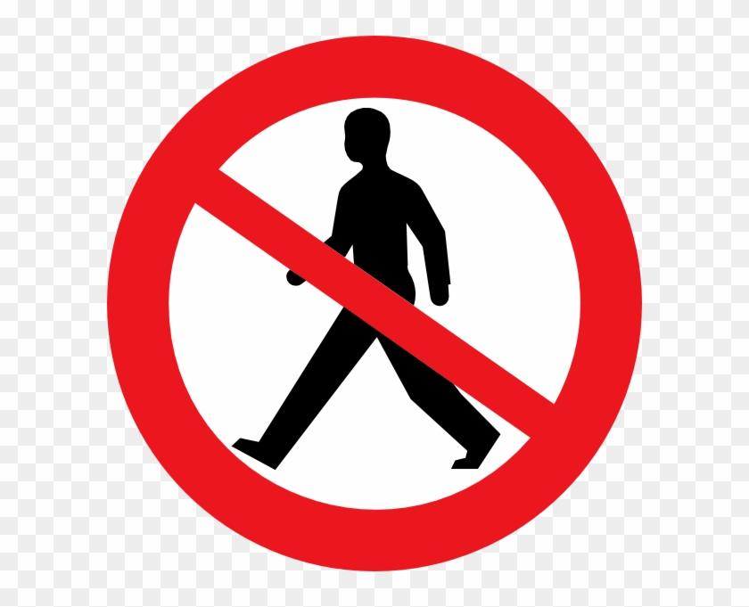 Do Not Enter Man Clip Art.