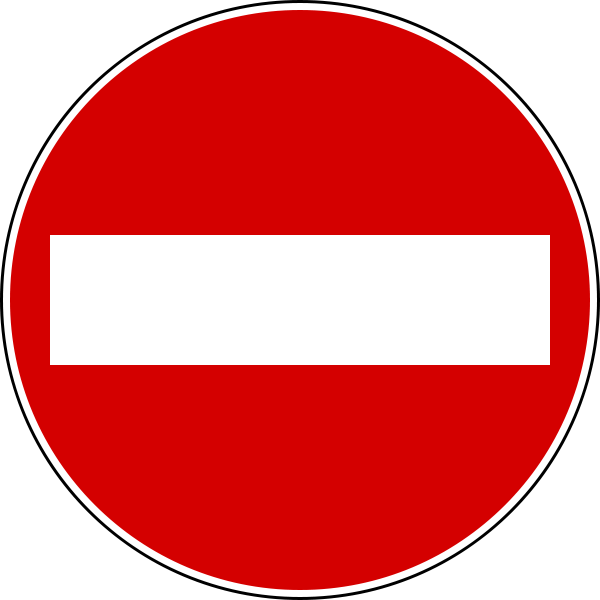 Italian do not enter sign.