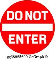Do Not Enter Sign Clip Art.