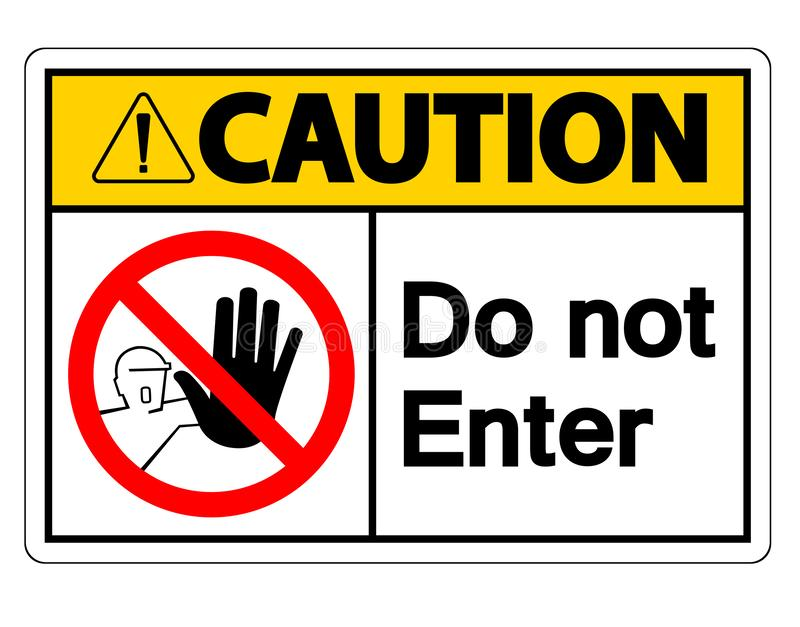 Do Not Enter Sign Stock Illustrations.