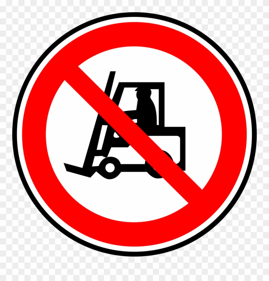 Forklift Traffic Sign Symbol Information.