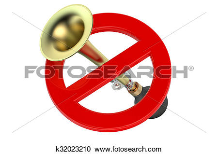 Stock Illustrations of do not honk or blowing concept k32023210.