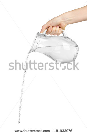 Pouring Water Stock Images, Royalty.