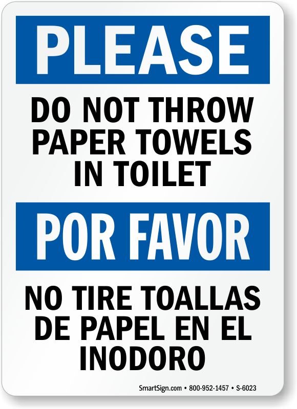 Do Not Through Paper Towel In Toilet Clipart Clipground