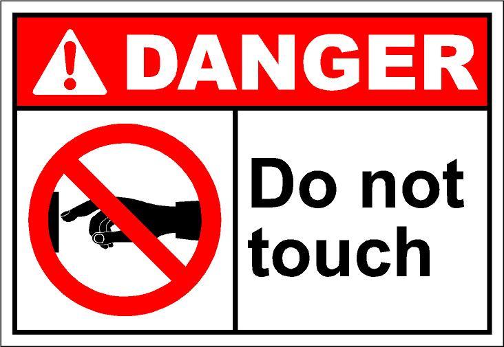 Danger do not touch clipart.