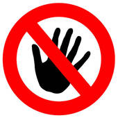 Clipart of Do Not Touch k0908701.