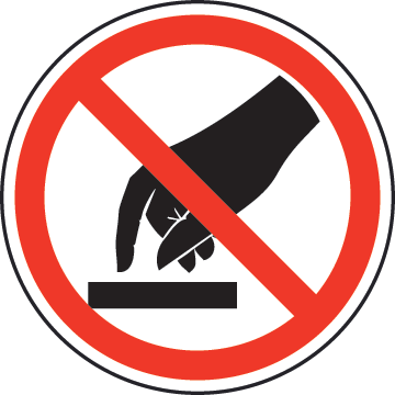 Do Not Touch Label by SafetySign.com.