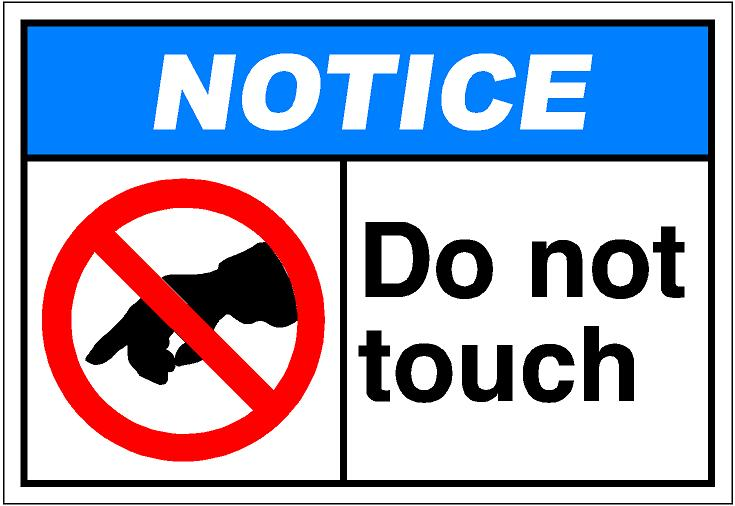 Do Not Touch Clipart.