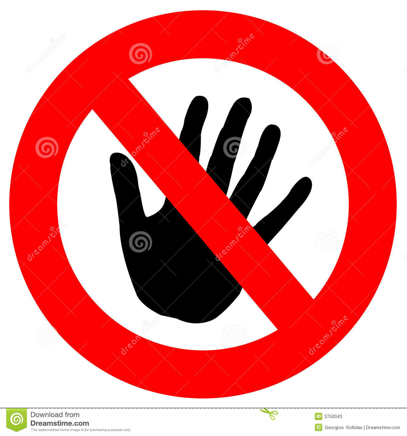 Clipart do not touch.