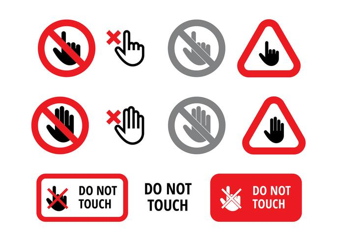 Do Not Touch Sign Free Vector.