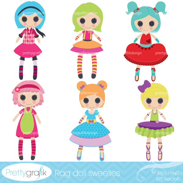Girls toys clipart.