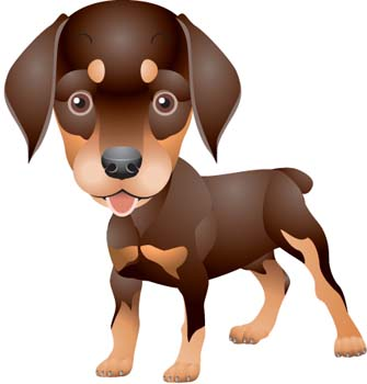 Doberman Pinscher Clip Art, Vector Doberman Pinscher.