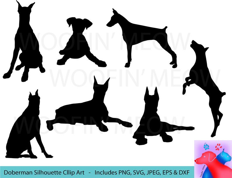 Doberman SVG Clipart Silhouette, Pet Lover, Dog SVG, Jumping Dog SVG, Dog  Clipart, Dog Vector, Doberman Dog, Playful Dog Instant Download.