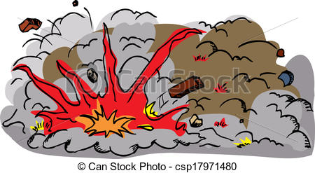 Vector of Large Explosion Cartoon.
