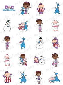 20 NAIL DECALS * DOC MCSTUFFINS * CHARACTER THEMED WATER SLIDE.