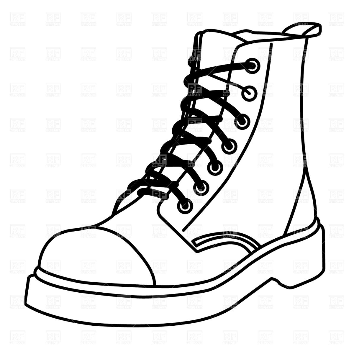 Boot outline Stock Vector Image.