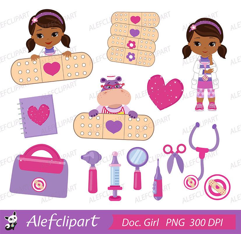 Doc Mcstuffins Doctor Bag Clipart.
