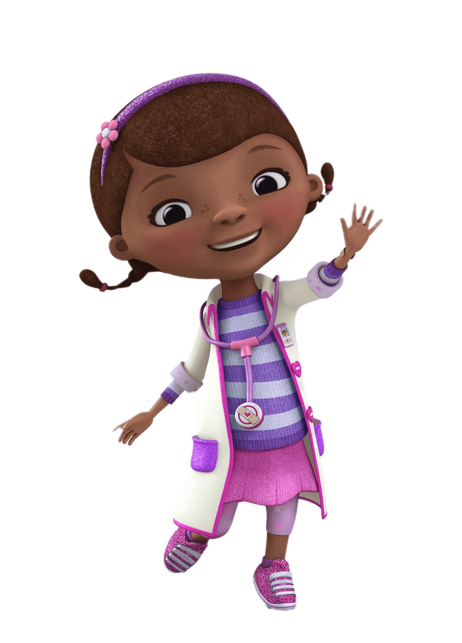 Doc McStuffins Waving transparent PNG.