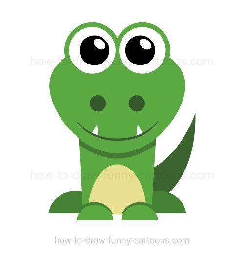 How to draw a crocodile.