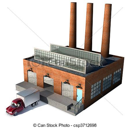 Stock Illustration of Factory.