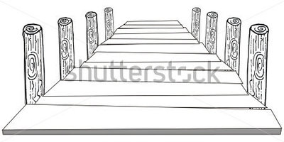 Dock clipart black and white.