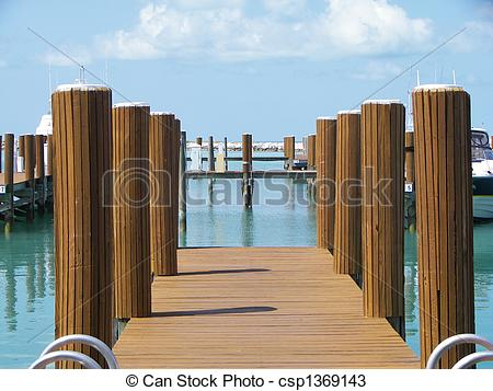Stock Photos of Bahamas Boat Dock.