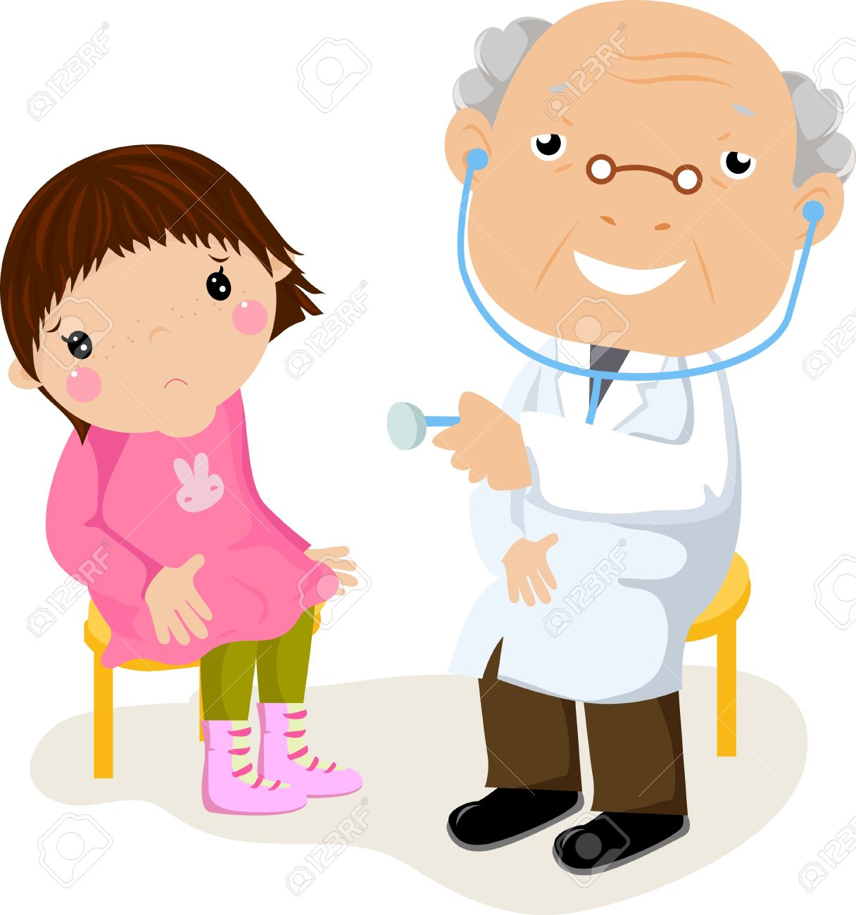 Doctor And Child Patient Clipart.
