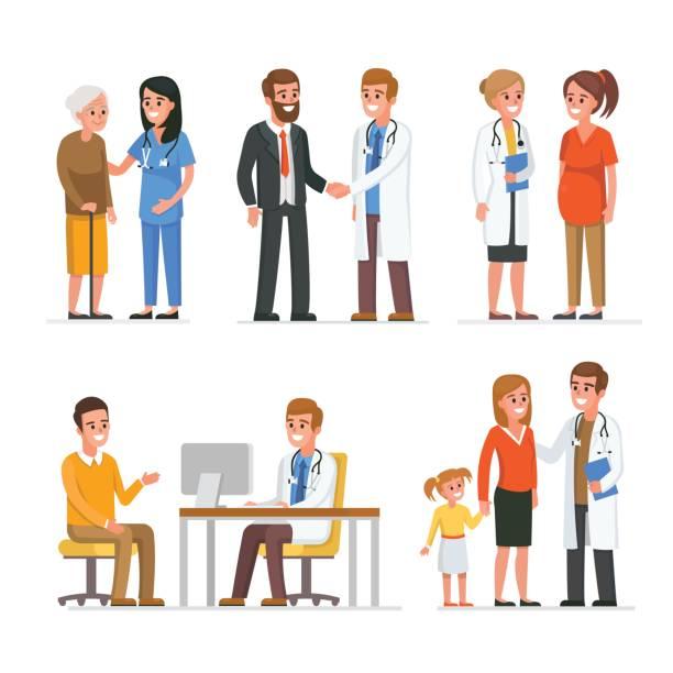 Best Doctor Patient Illustrations, Royalty.
