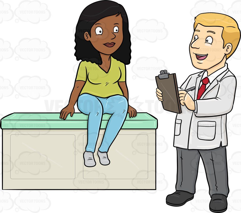 Image result for doctor and patient talking clipart.