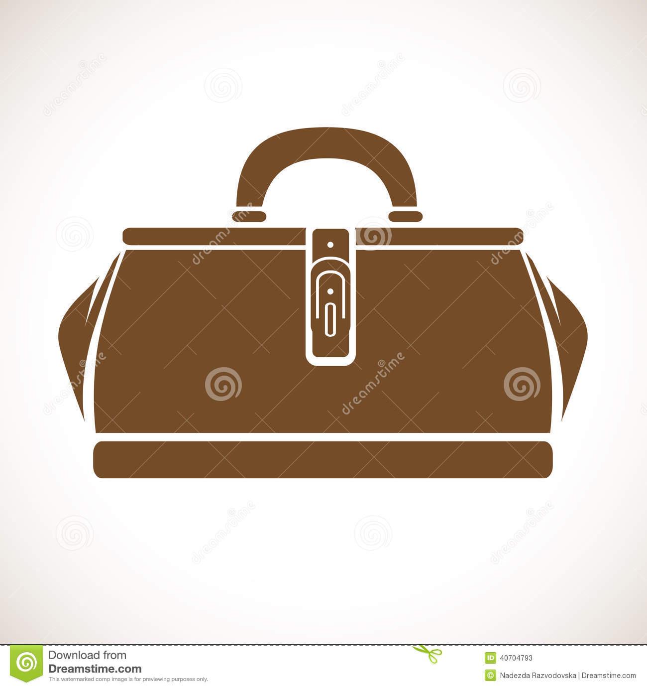 Doctor Bag Stock Vector.