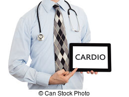 Stock Photo of Doctor holding tablet.