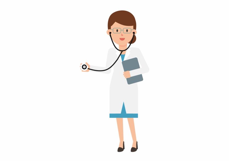 Doctor Holding Stethoscope Cartoon.