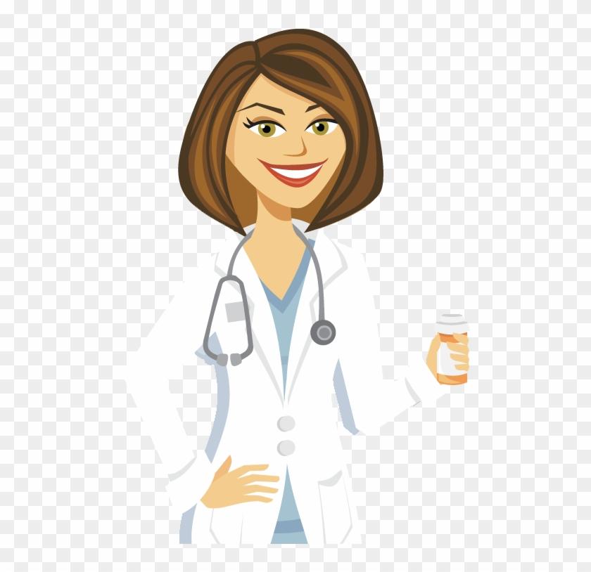 Cartoon Girl Doctor.