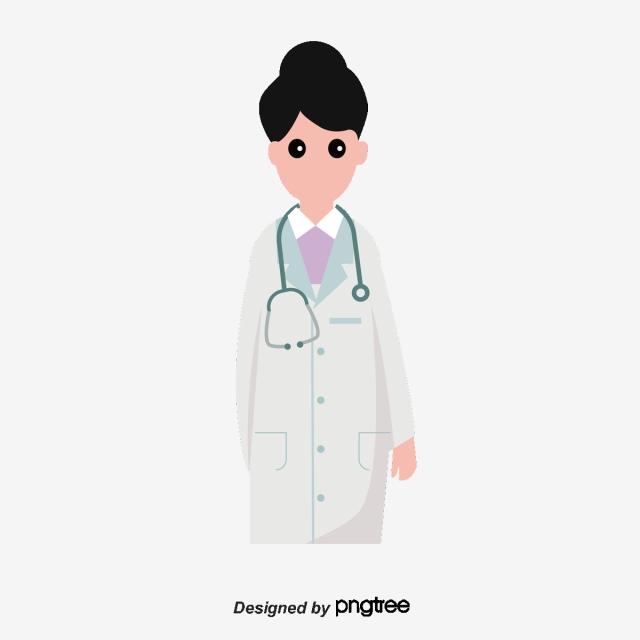Doctor Cartoon Female, Doctor Vector, Cartoon Vector, Physician PNG.