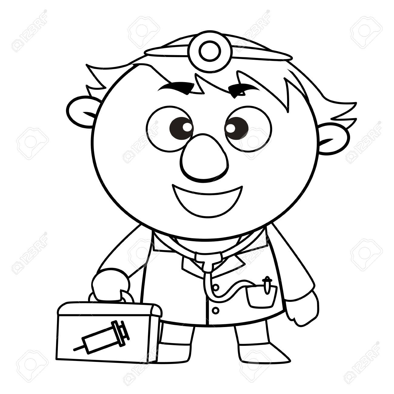 Clipart doctor black and white 4 » Clipart Portal.