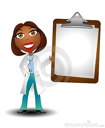 Black Female Doctor Clipart.