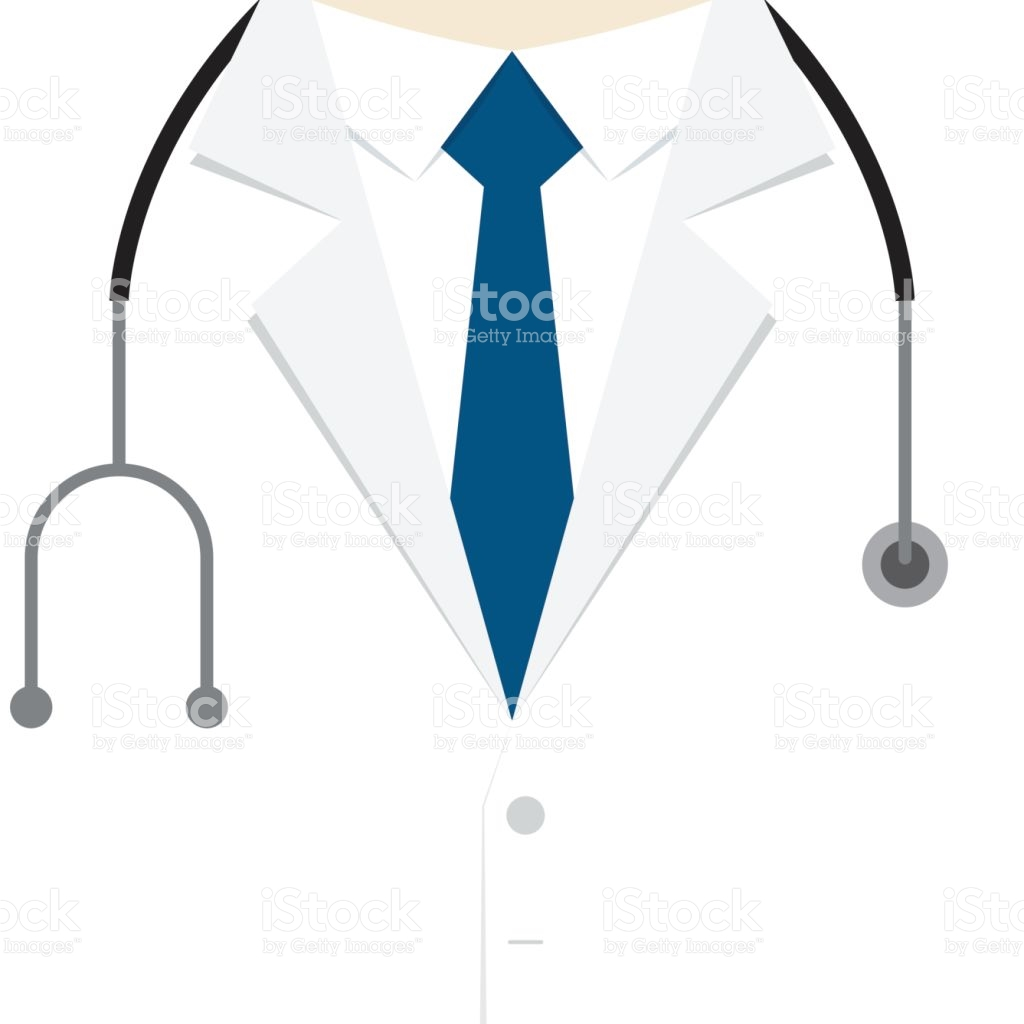Doctor Coat And Stethoscope Clipart.