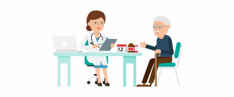Doctor Sitting Png Transparent Background Doctor And Patient.