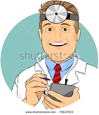 Doctors Head Mirror Stock Images, Royalty.