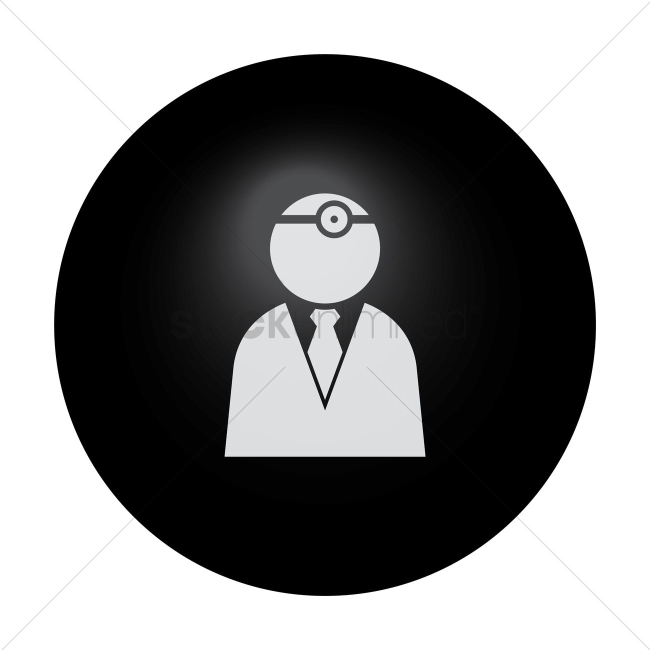 Doctor with head torch Vector Image.