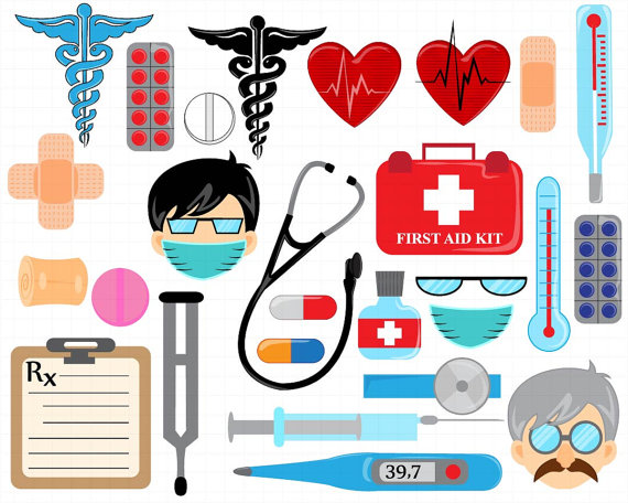 Doctor Set Clipart.