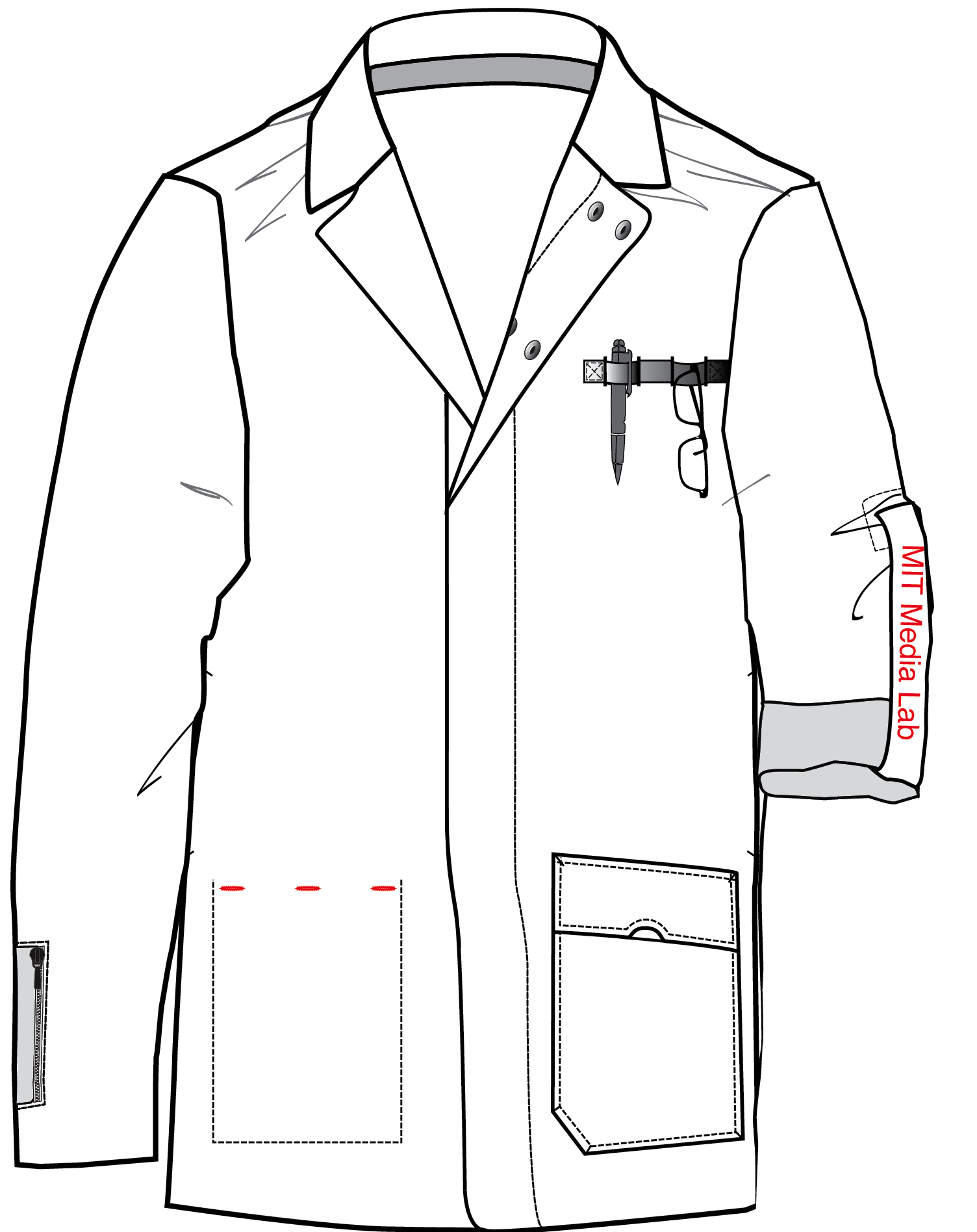 Lab Coat Sketch at PaintingValley.com.