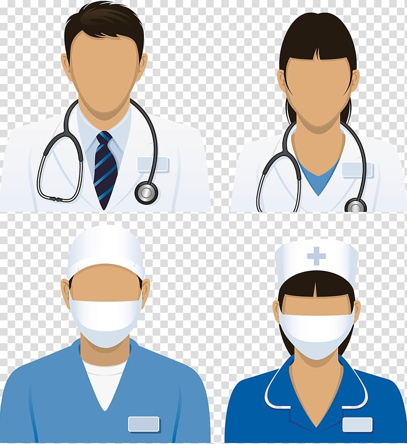 Medical staff collage, Nursing Physician Medicine Patient, Doctor.