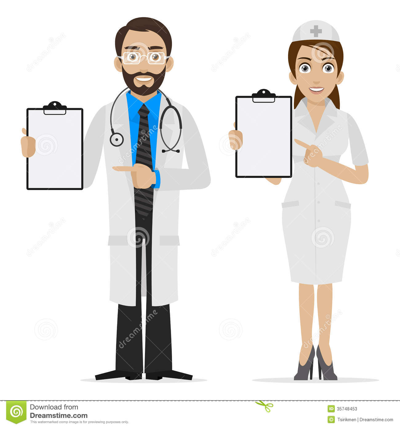Doctor and nurse clipart 1 » Clipart Station.