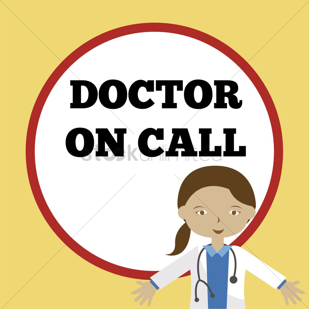 Doctor on call sign Vector Image.