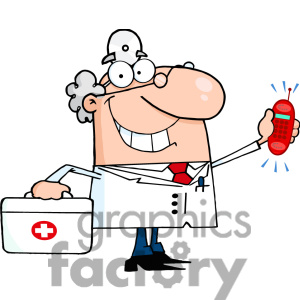 Funny Doctor Clipart.