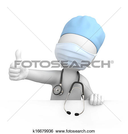 Stock Illustration of Happy doctor with thumb up k16679936.
