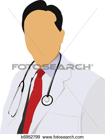 Clip Art of Medical doctor with stethoscope on k6952799.