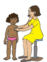 Doctor Using Stethoscope Clipart.
