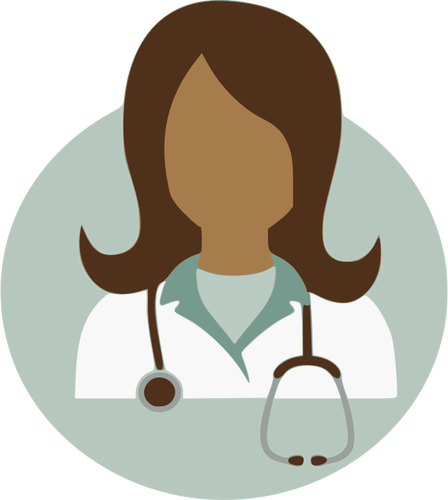 Female doctor vector image.